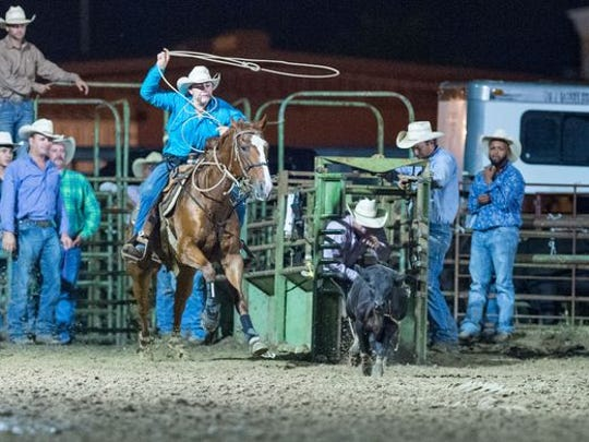 Luke Dubois  competes on Sept. 21 at the September Showdown CRA Rodeo at Cowboys Arena in Scott.