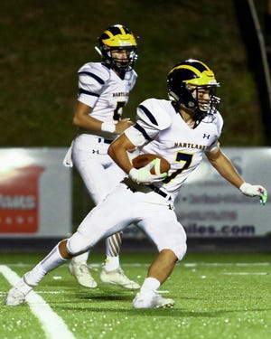 Hartland's Reece Potter leads Livingston County with 577 rushing yards.
