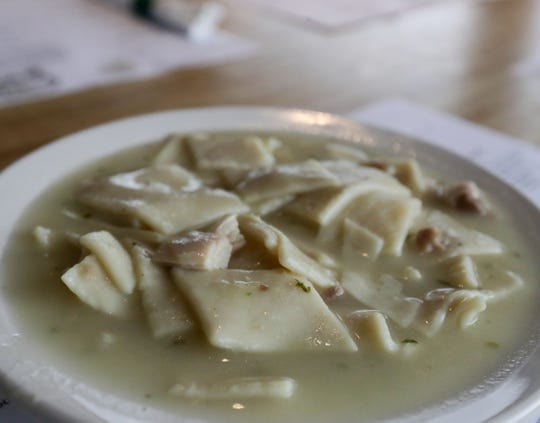 The chicken and dumplings from Joe Huber's Family Farm Restaurant.