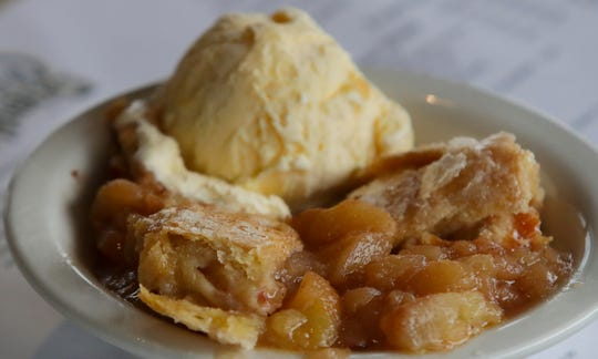 The apple cobbler from Joe Huber's Family Farm Restaurant.