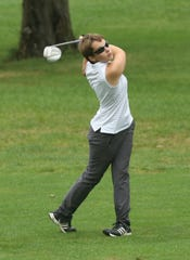 Shelby junior Julia Gutchall shot a 79, seven strokes better than her previous best, to help the Whippets win a third straight sectional title.