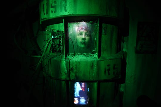"One of the scenes at ""Escape from Blood Prison"" that is sure to terrify guests."