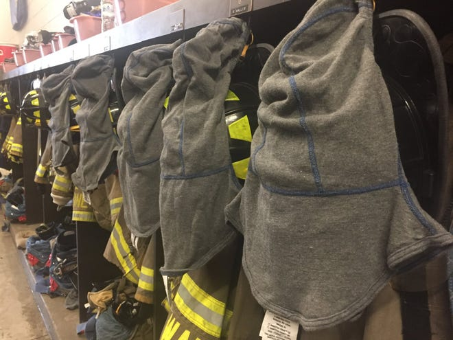 The FBI Milwaukee Citizens Academy Alumni Association donated 35 particulate barrier hoods, which are designed to reduce exposure to carcinogens released during fires, to the South Milwaukee Fire Department.