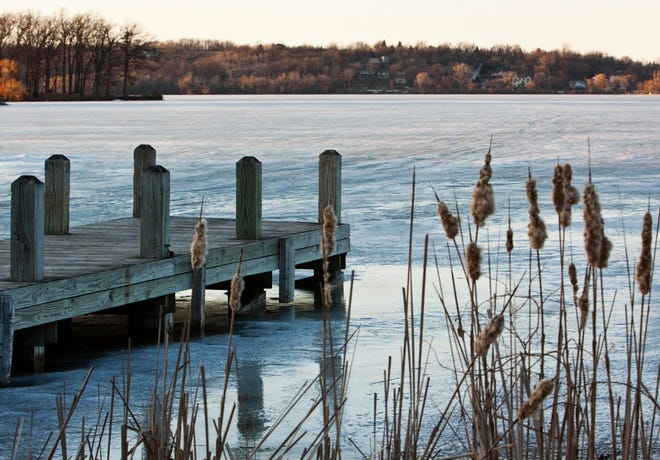 Fishermen need several inches of ice to be safe on the lake. Lake Country's lakes aren't there yet, according to locals.