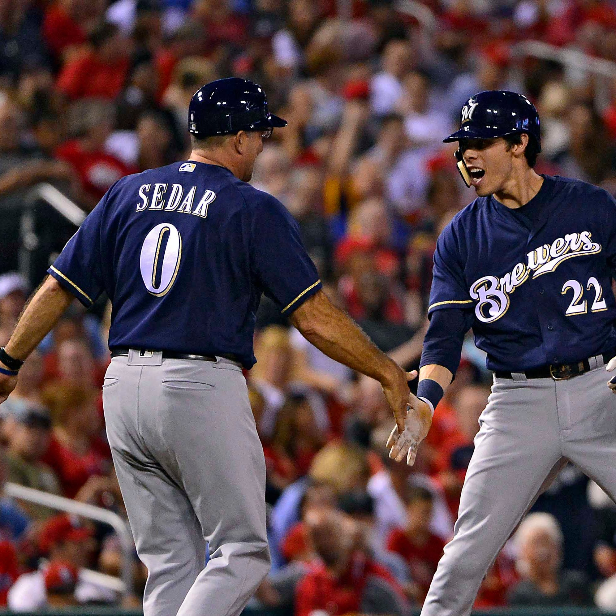 Brewers 12, Cardinals 4: Braun homers twice, Yelich drives in six as magic number drops to 1