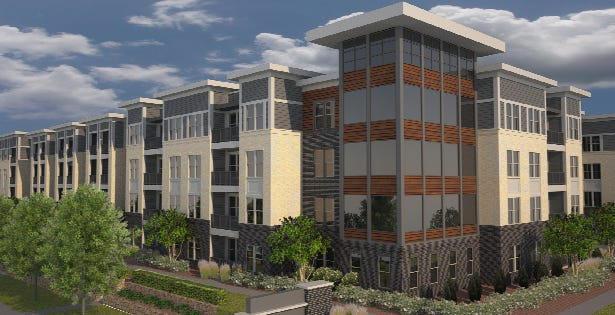 St. Francis approved a development agreement for a 236-unit apartment development along the lakefront.