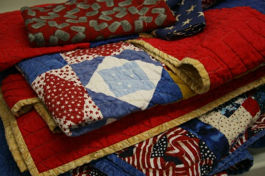 Members of the Mountain Home Quilts of Valor use a variety of high quality quilting fabric that can cost anywhere from $10 a yard or more. The group is always looking for new quilters and donations to offset the cost of their quilts for area service members and veterans who have been nominated for a quilt.