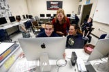 Deb Burleigh runs a class on sports and news TV production at Roxbury High School. Students have a twitter feed that covers Roxbury sports live, and they are also producing a weekly podcast and biweekly YouTube series.