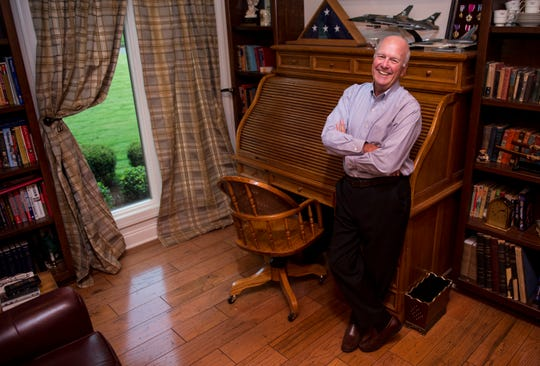 Ted Lowry, candidate for District 2 Board of Education poses for a portrait at his home in Montgomery, Ala., on Wednesday, Sept. 26, 2018.