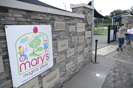 Grand opening of Mary's Magical Place, an all-inclusive playground in Hendersonville on Tuesday, Sept,.25, 2018. Mary's Magical Place is named for Mary McAuley, a Hendersonville teen who died from complications of cerebral palsy in 2015.