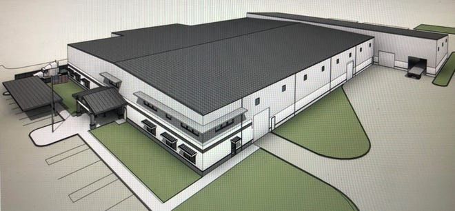 Conceptual image of the new MY Shower Door North American headquarters and D3 Glass manufacturing plant.