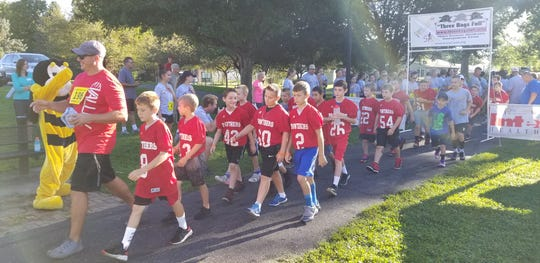 Karis' Cause 2018 5k in Geller Park is supported by a local boys' youth football team.