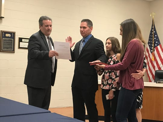 Anthony Espino was promoted to lieutenant of the Palisades Park Police Department