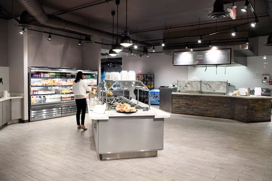 The renovated and expanded cafeteria at 55 Challenger Road in the Overpeck Corporate Park in Ridgefield Park, N.J.
