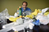 Reporter Scott Fallon talks to Environmental Consultant Wayne DeFeo about which plastics can be recycled and which plastics you can't