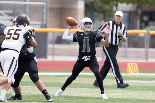 Jayden Diaz and the Oñate Knights face Mayfield Thursday night at the Field of Dreams.