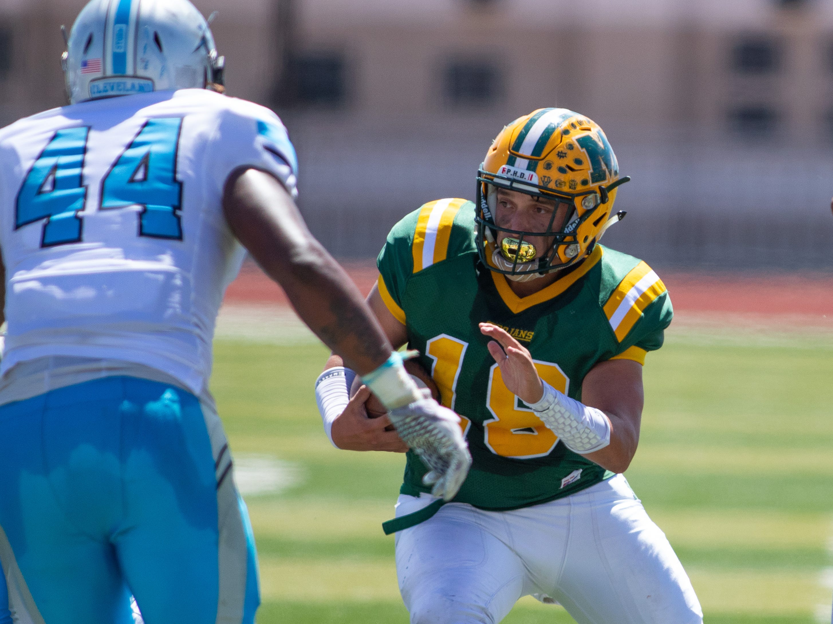 Jacob Moreno and the Mayfield Trojans face Oñate Thursday night at the Field of Dreams.
