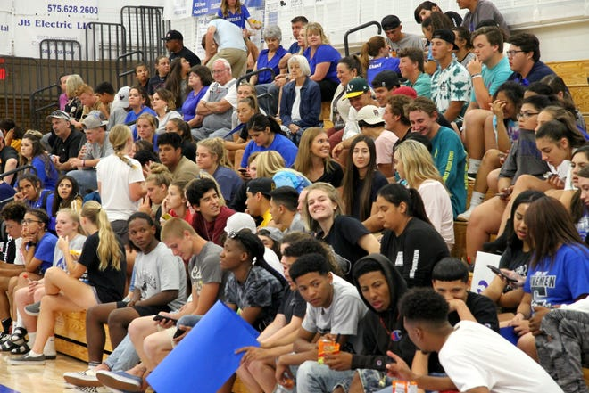Carlsbad fans during Tuesday's match against the Lady Bulldogs of Artesia. Artesia won in straight sets.