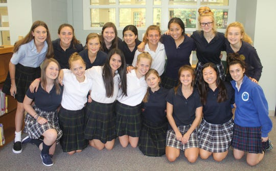 A group of Sacred Heart girls, including eight players from the former Ladywood High School, turned out for a recent informational meeting about the school's new ice hockey program which debuts in November and will play home games at the Troy Sports Center.