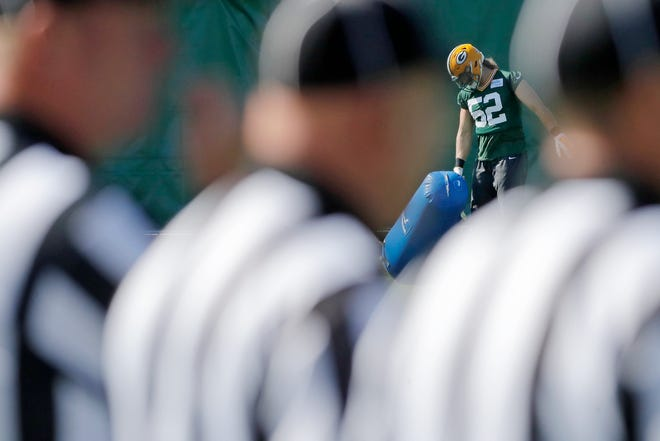 Green Bay Packers linebacker Clay Matthews (52) during practice at Clarke Hinkle Field on Wednesday, September 26, 2018 in Ashwaubenon, Wis.