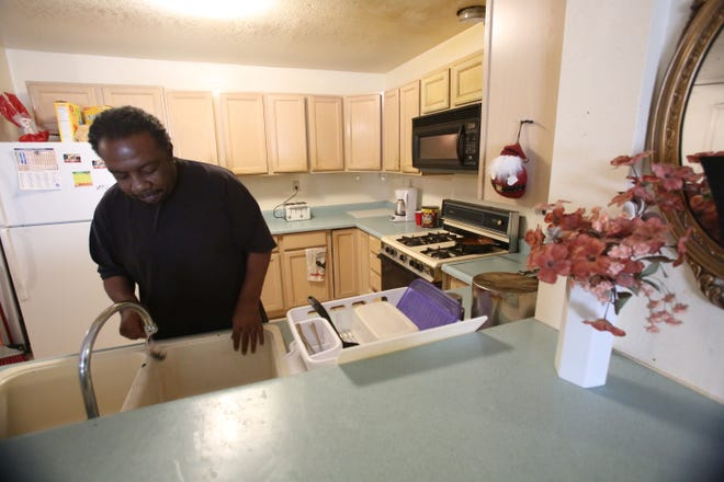 Mossie Swain, a veteran of the Navy, became homeless after losing his job at a restaurant when It closed. He was able to find a transition home through an organization helping veterans stay of the street.