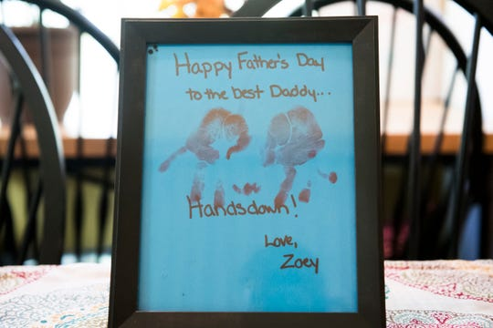 A Father's Day gift from Zoey, Zackery's 6-year-old daughter.
