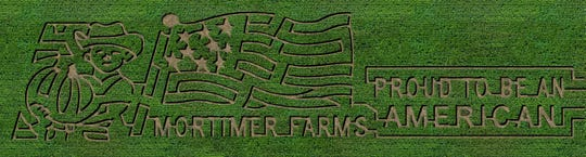 Mortimer Farms has a unique corn maze design for the festival each year.