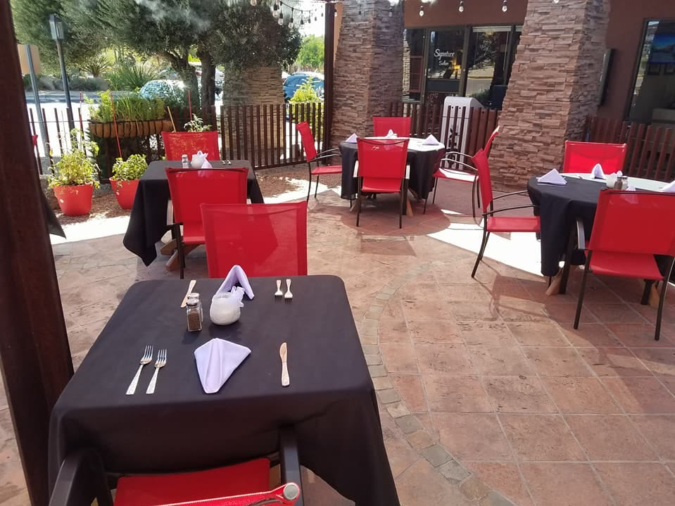 Diners can enjoy a meal outdoor on the patio at Sundial Garden Cafe in Carefree.