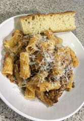 The Grass-Fed Beef Bolognese at Rott n' Grapes RoRo in downtown Phoenix.