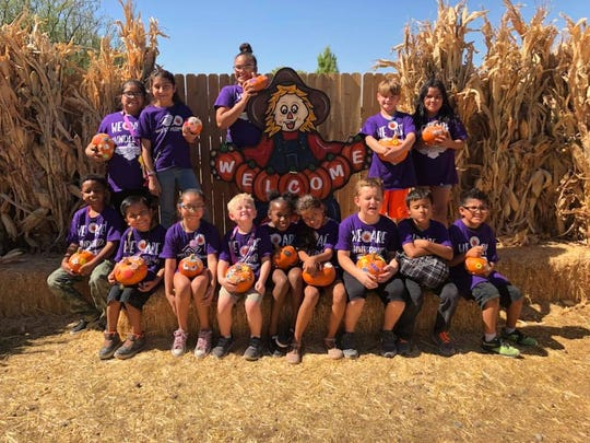 Students took a tour of the pumpkin patch at Mother Nature's Farm.