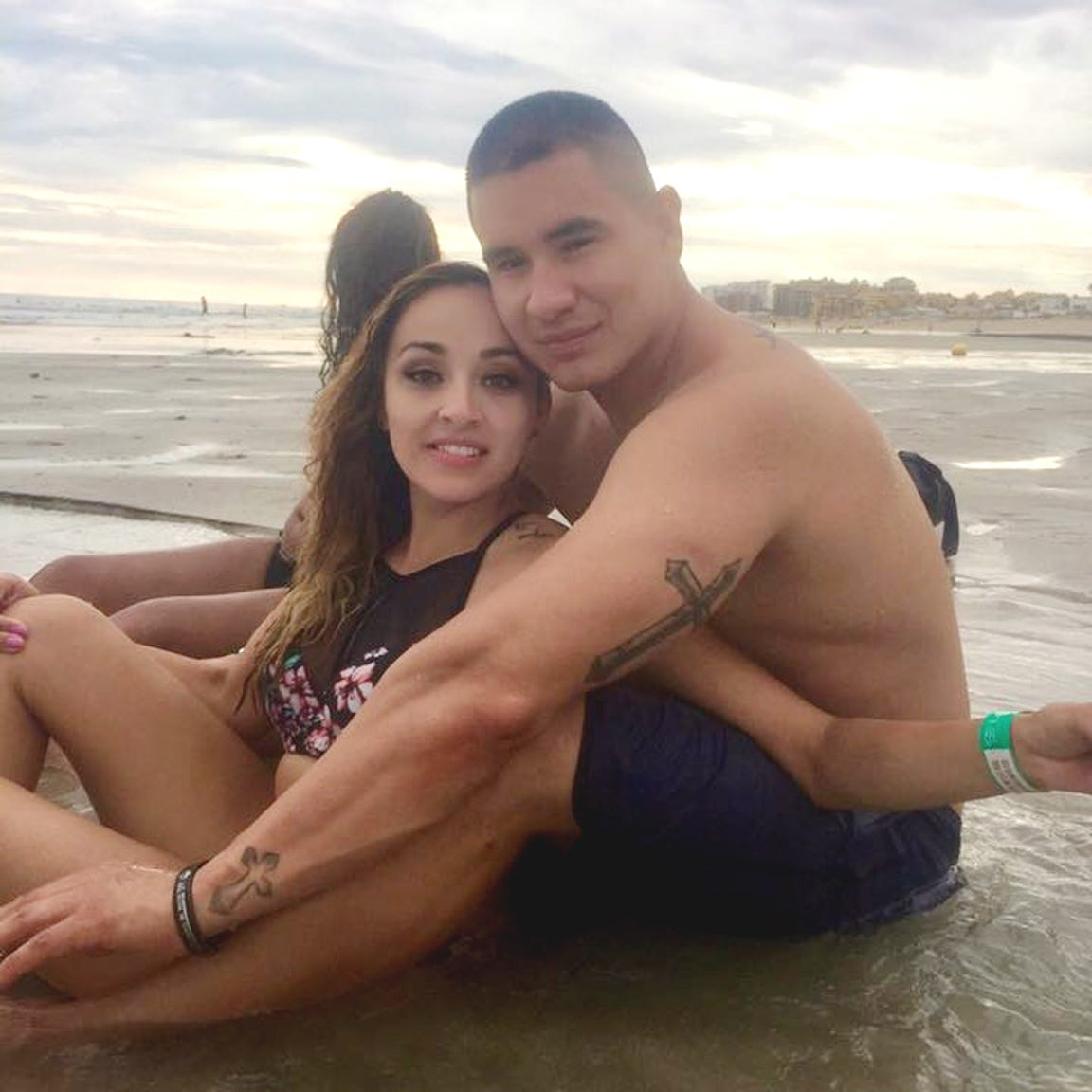 Jovanna and Frank Calzadillas while on vacation a month before the shooting at the Route 91 Harvest Festival in Las Vegas.