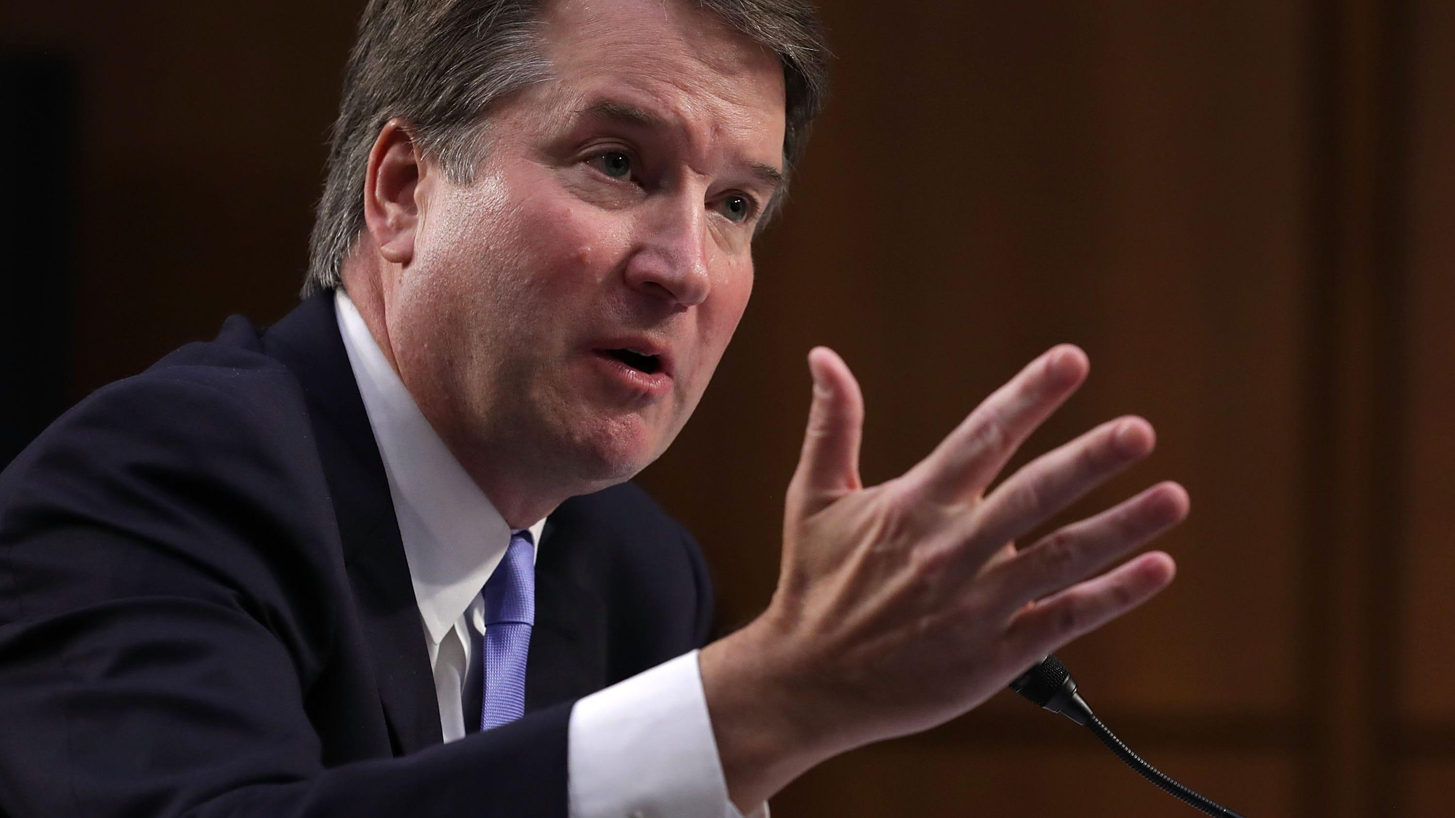 Supreme Court nominee Judge Brett Kavanaugh testifies before the Senate Judiciary Committee on Sept. 6, 2018, on the third day of his Supreme Court confirmation hearing in Washington, D.C.