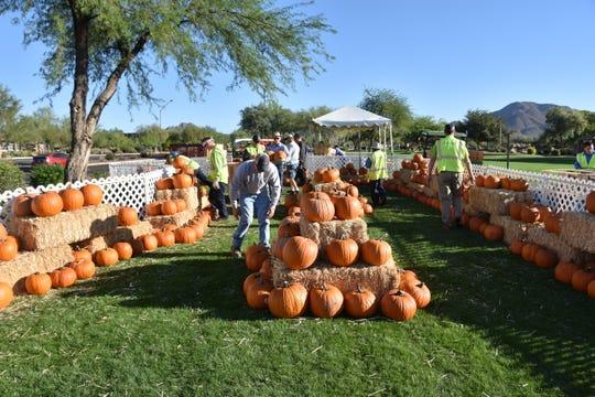 The Autumnfest pumpkin patch.