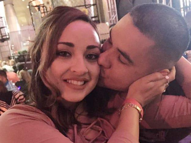 Jovanna and husband Frank Calzadillas in 2016.