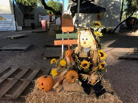 Some decorations from the First Christian Church pumpkin patch.
