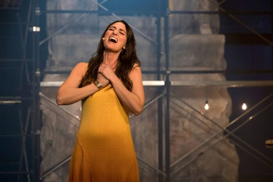 """Sara Bareilles as Mary Magdalene in """"Jesus Christ Superstar Live in Concert,"""" broadcast on NBC on April 1, 2018."""