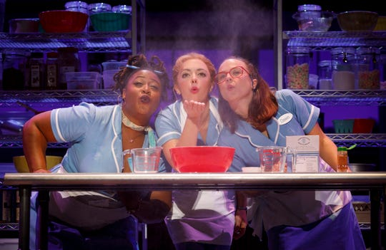 "Charity Angel Dawson, Desi Oakley and Lenne Klingaman in the national tour of ""Waitress."""