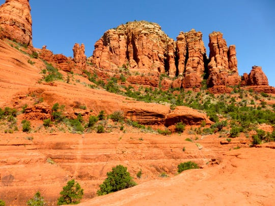 The Little Horse Trail in Sedona brushes past the Chapel of the Holy Cross to end at Chicken Point.