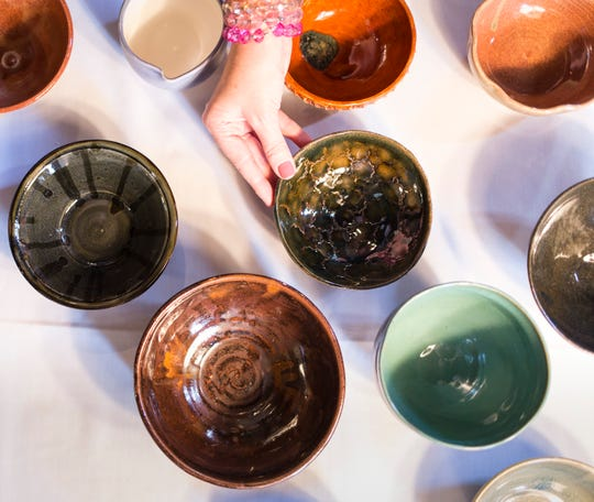 Handmade bowls from local artisans fired at Art Centro will be filled with soup during Poughkeepsie Farm Project's annual Soup-a-Bowl, Sept. 30.