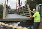 Pedestrian bridge replaced at Chambers Fort Park