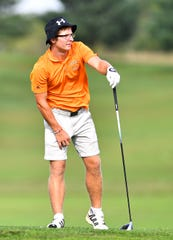 Central York's Carson Bacha during the York-Adams League Team Golf Championship at Briarwood East Golf Course in West Manchester Township, Wednesday, Sept. 26, 2018. Dawn J. Sagert photo