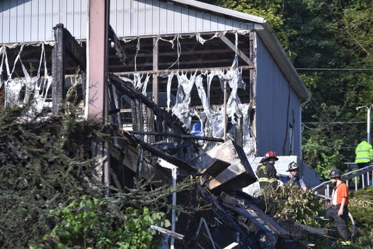 Fire destroyed this vacant home in the 500 block of Boat House Road in Lower Windsor Township on Sept. 26, 2018, East Prospect Fire Chief Jerry Hanson said. (John A. Pavoncello photo)