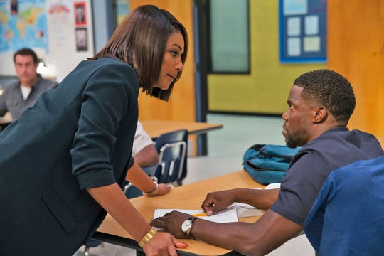 "Tiffany Haddish, left, and Kevin Hart star in ""Night School."" The movie opens Sept. 28 at Regal West Manchester Stadium 13, Frank Theatres Queensgate Stadium 13 and R/C Hanover Movies."
