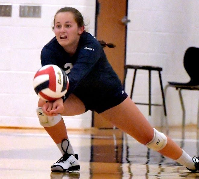 The serving of Kambrie Hepler helped the West York Bulldogs to a 3-1 victory over York Suburban in girls' volleyball action on Thursday evening.