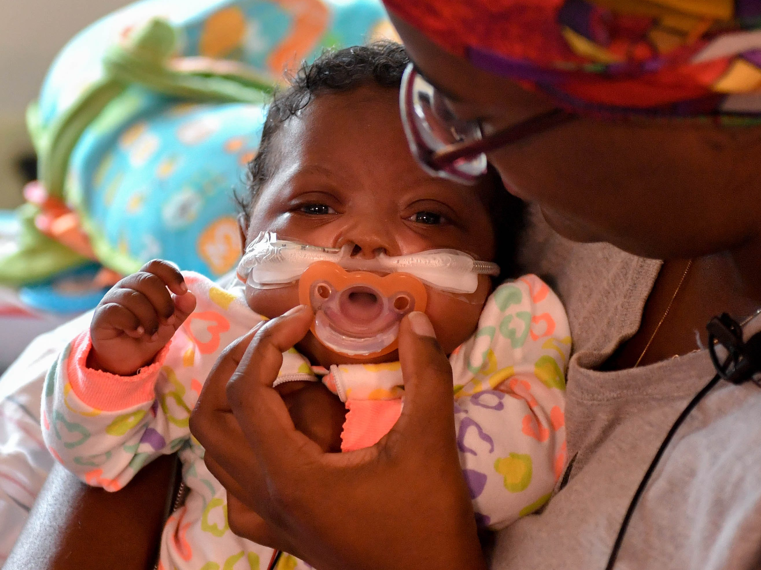 U'Nyizàh Jay'myia Hall was born 23 weeks early on May 1, 2018. She was one pound and around four ounces and now she's nine pounds and almost six ounces. Her mother, Angelina Hall, has been with her every step of the way.