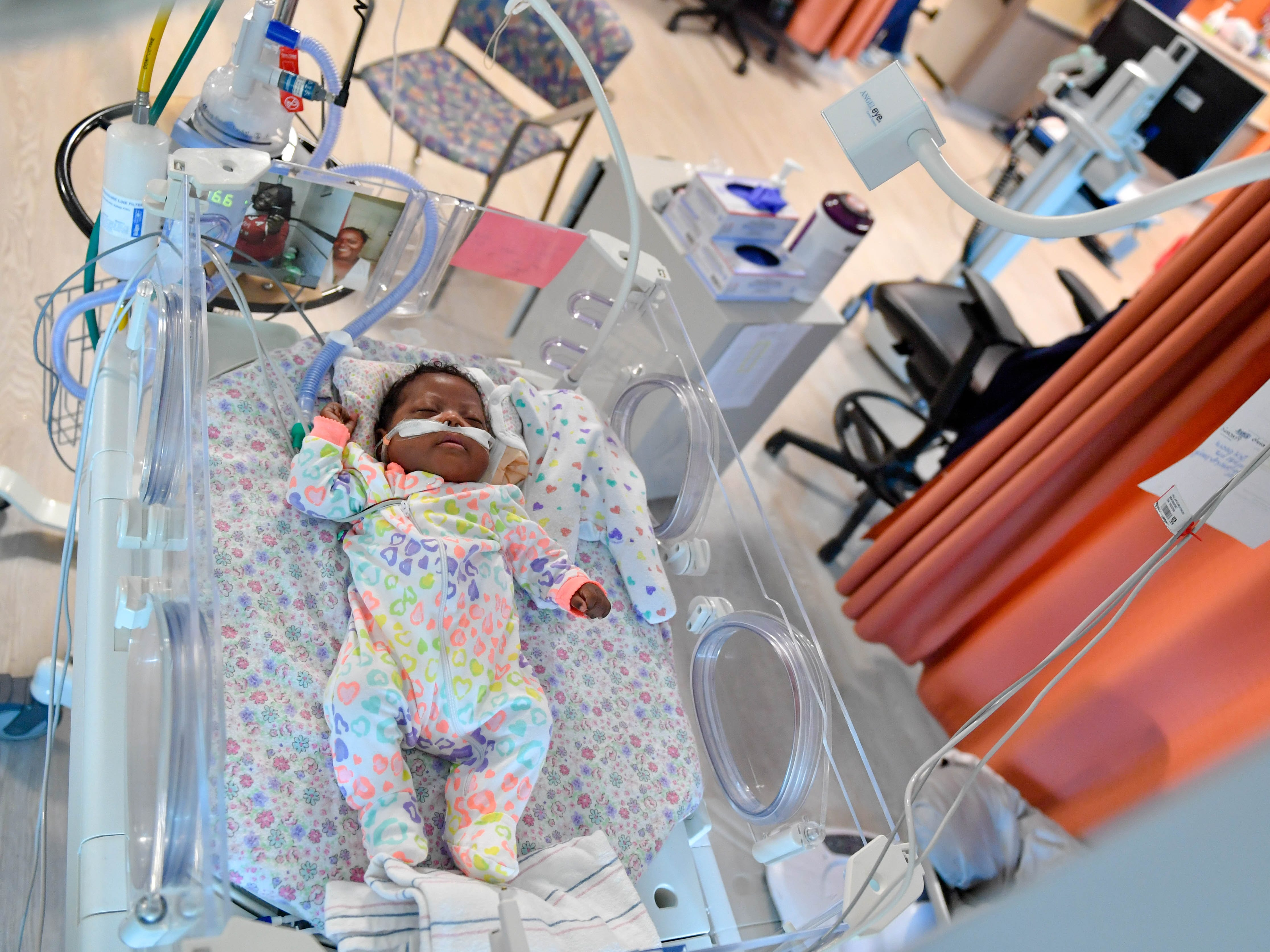 The Angel Eye cameras are positioned over the babies in the NICU. When parents activate the camera through WellSpan's website, they can instantly see what their child is doing at any point in time.