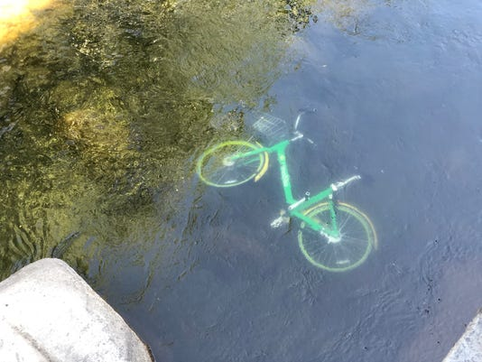 Lime Bike in Truckee River