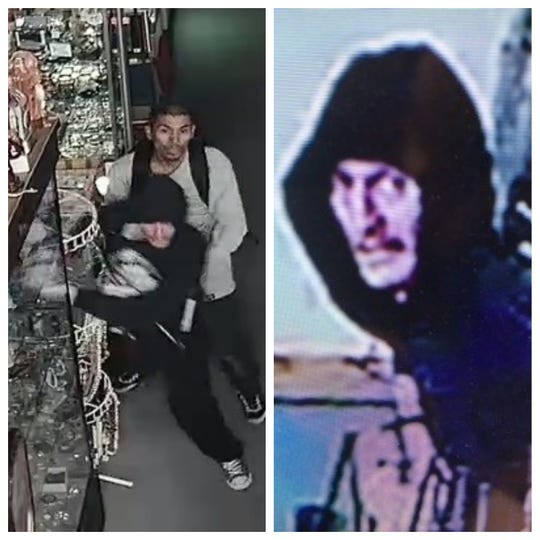 The Reno Police Department released surveillance photos of two men, who are suspected of burglarizing a Midtown store.