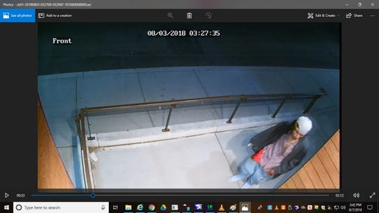 The Reno Police Department released a screenshot of surveillance footage showing a man outside of a jewelry story on South Virginia Street in Midtown.