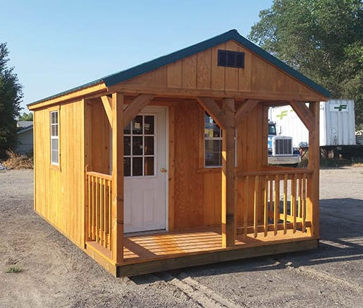 A sample of the Northern Nevada HOPES tiny houses for the chronically homeless. HOPES plans to build 30 of these 96 square foot houses on Fourth and Sage streets.